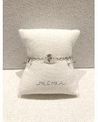  bracelet serpent pierre quartz rose argent
