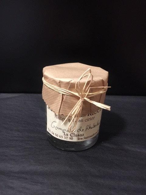 Verrine compotée de Rhubarbe