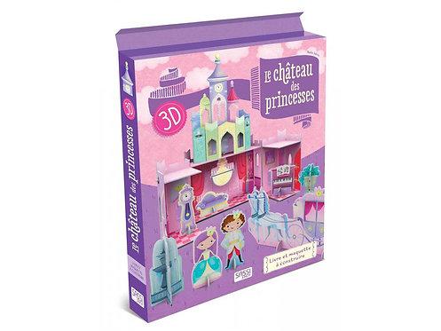 Coffret Livre + construction- Le château des princesses 3D