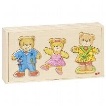 Famille ours à habiller, boîte-puzzle, goki basic.
