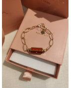 Bracelet cylindre étoile rouge/doré
