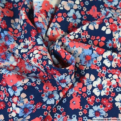 Foulard  hibiscus corail fond marine