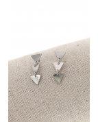 boucle d'oreille clous triangle argent