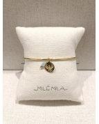 bracelet jonc aigle doré