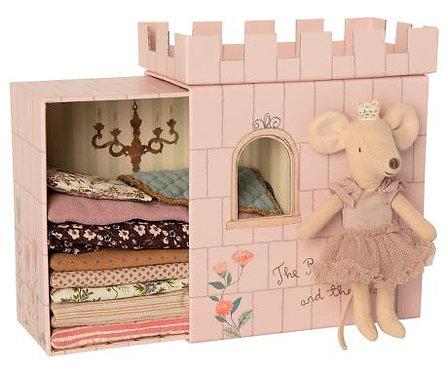 Maileg Grande soeur souris Princesse au petit pois et son château