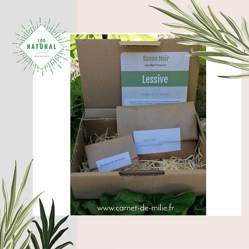 Box Milie - Kit DIY Création Lessive Savon Noir Producteur Français