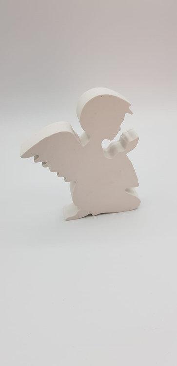 Ange blanc épuré 12cmX10 cm