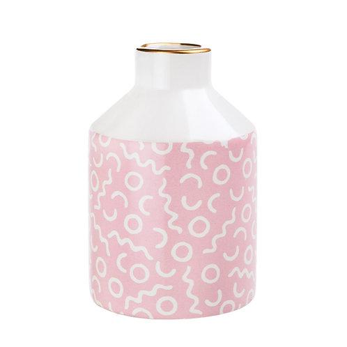 Memphis Modern Pastel Pink Vase