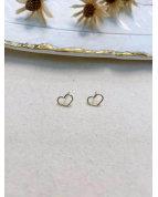 Boucle d'oreille coeur argenté