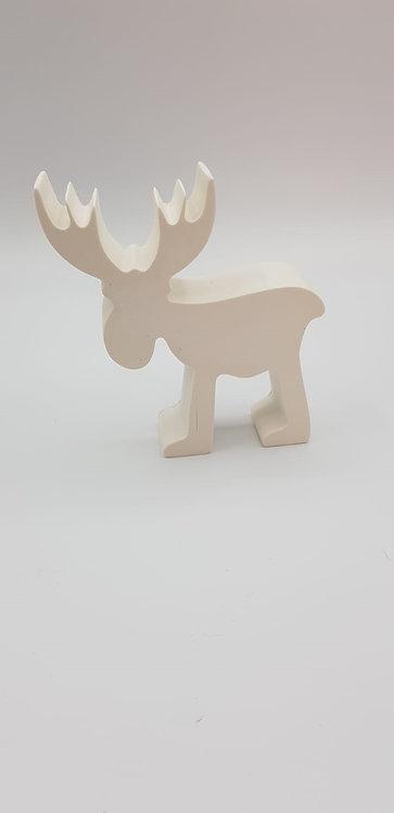 Elan de Noël blanc épuré 12cmX10 cm