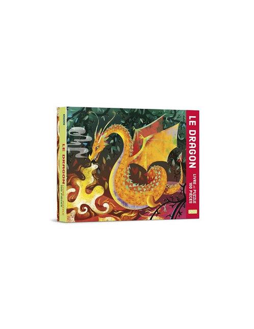 Le dragon livre et puzzle de 100 pièces