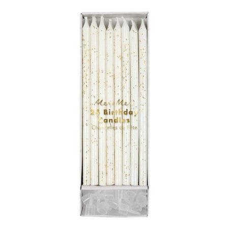 bougies d'anniversaire paillettes dorées