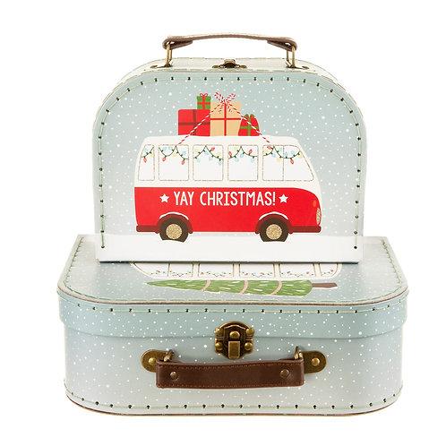 Christmas Camper Van Suitcases - PM