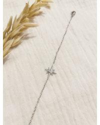 Bracelet étoile strass argenté