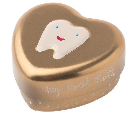 boite à dents doré