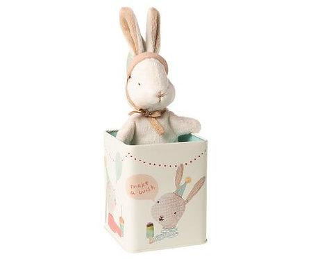 Happy day bunny in box, Small Maileg