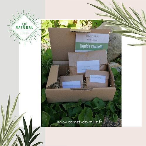 Box Milie - Kit DIY Liquide Vaisselle Savon Noir  Producteur Français