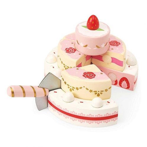 Wedding cake à la fraise
