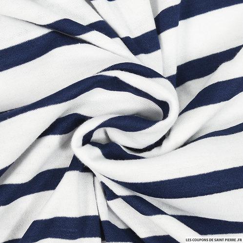 Foulard marinière blanc et marine
