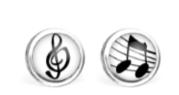 B.O. Les Minis® Acier Chirurgical - Clé de Sol / Note de musique