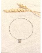 Bracelet jonc fin taille S argenté