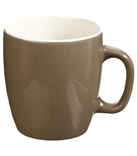 Mug Rond en Faïence coloris Taupe 18 cl