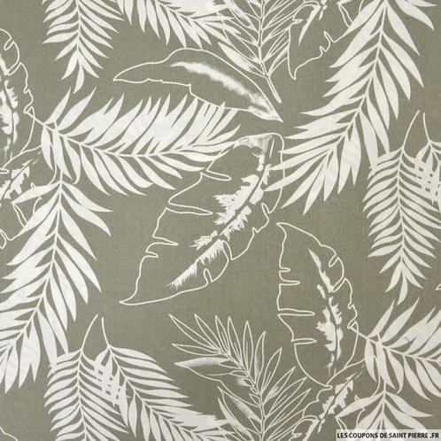 Foulard jungle fond vert de gris