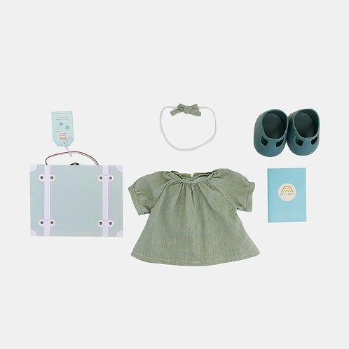 Set de voyage Dinkum Doll Travel Tog coloris mint