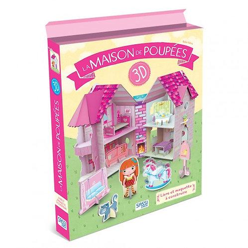 Coffret Livre + construction- La maison des poupées 3D