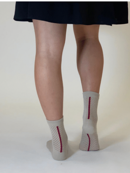Chaussette femme - Be Trendy - Beige - T.37-41