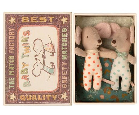 Maileg Bébé souris, jumeaux en boîte