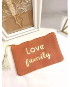 Pochette LOVE family rouge