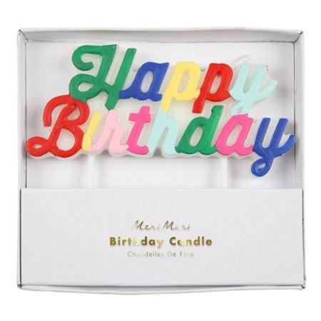 multi bougie joyeux anniversaire