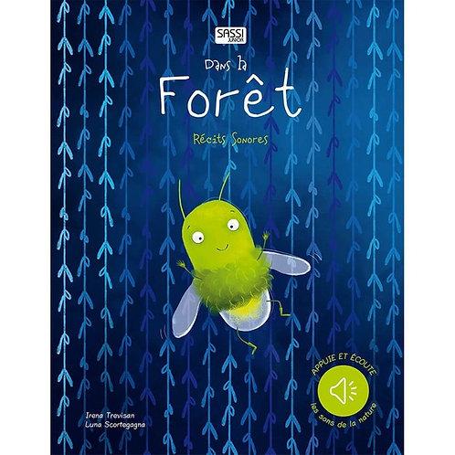 Livre récit sonore dans la forêt