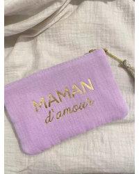 Pochette Maman d'amour violet