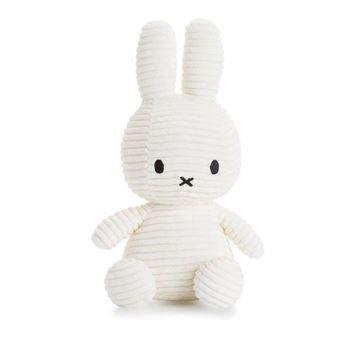 Miffy - Lapin velours cotelé blanc - 23 cm - %