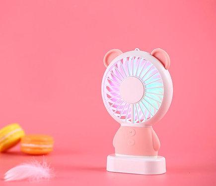 Mini ventilateur Ours ROSE