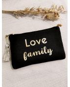 Pochette LOVE family noire