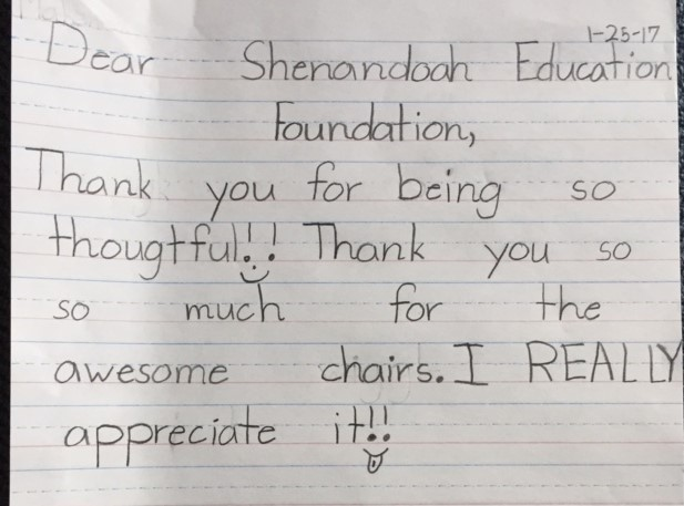 Thank you from a student aftermini-grants