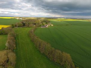 vue aérienne printemps