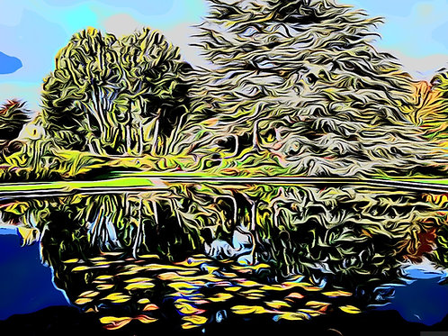 Bodnant Lake Print 6 x 4 inches