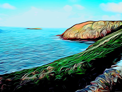 Cemaes Bay Print size 6 x 4 inches