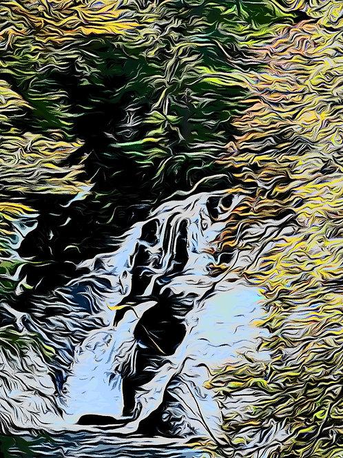 Swallow Falls Print 8 x 6 inches
