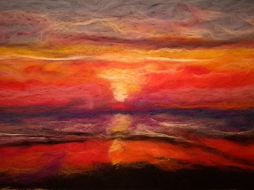 Rhosneigar Sunset. Print 8 x 6 inches