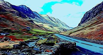 Llanberis Pass, Snowdonia, Pen y Pas
