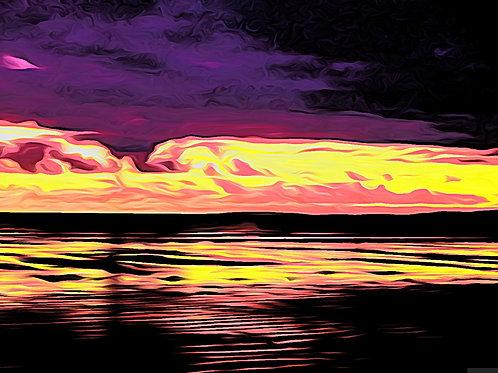 Blackrock sands Sunset Print 8 x 6