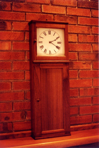 Walnut Shaker Clock