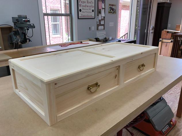 Custom burial urn.