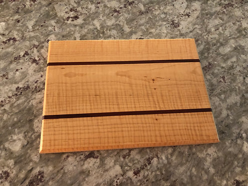 Cheese Board in Curly Maple and Padauk