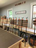 Glue up of cutting boards.